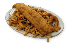Fried Clam Strips and Trout