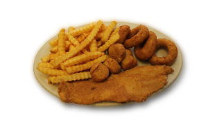 Fried Scallops and Catfish