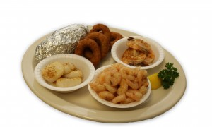 Broiled Scallops, Jumbo Shrimp and Baby Shrimp